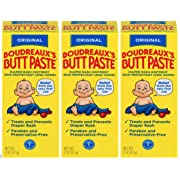 Boudreaux's Butt Paste Diaper Rash Ointment | Original | 2 oz. | Pack of 3 Tubes | Paraben & Preservative Free