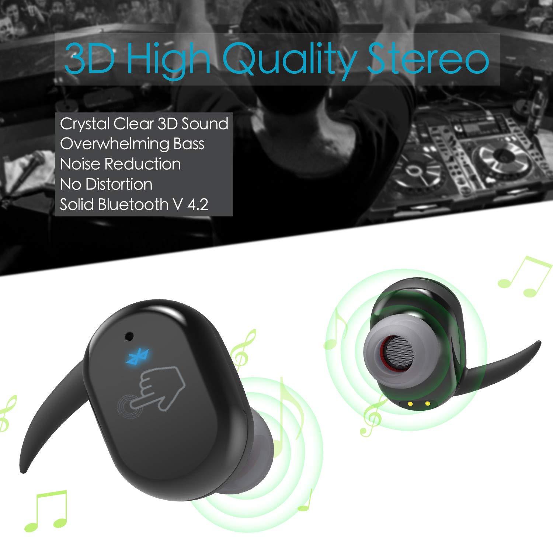 Wireless Headphones Bluetooth Earphones Earbuds , MARSNET Sport 3D Stereo  Sound Gym Running Headphones Touch Control Headset IPX5 Sweatproof , True  Wireless ...