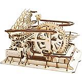 ROKR コースター 水車 コグ 立体パズル 機械模型マニア ギア 手回し 木製 クラフト プレゼント (水車)