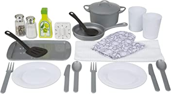 Melissa & Doug 22-Piece Play Kitchen Accessories Set - Utensils, Pot, Pans, and More