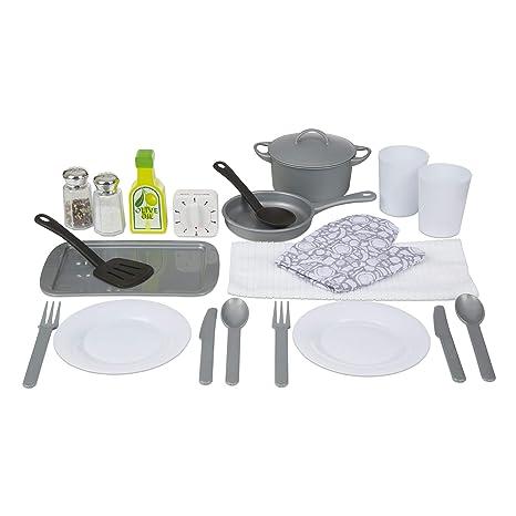 Amazon Com Melissa Doug 22 Piece Play Kitchen Accessories Set
