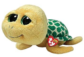 Ty Beanie Boos Pokey - Tortuga de peluche (15 cm), color amarillo y