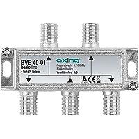 Axing BVE 40-01 4-voudige BK-verdeler (5-1000 MHz) voor kabeltelevisie en DVB-T2 HD, F-aansluitingen