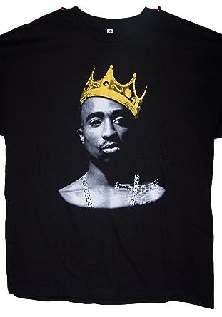 44479b2c King 2Pac Tupac Shakur US Screen Printed T-Shirts Hip Hop T-Shirts Men's