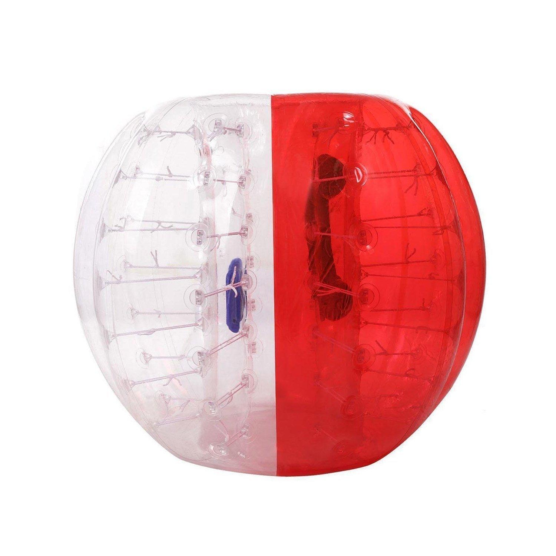 TPU Transparent Inflatable Bumper Ball Human Knocker Ball Bubble Soccer,Human Hamster Ball for Kids Adults Parties,1.2M/1.5M(US Stock)