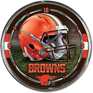"WinCraft NFL Chrome Clock, 12"" x 12"""