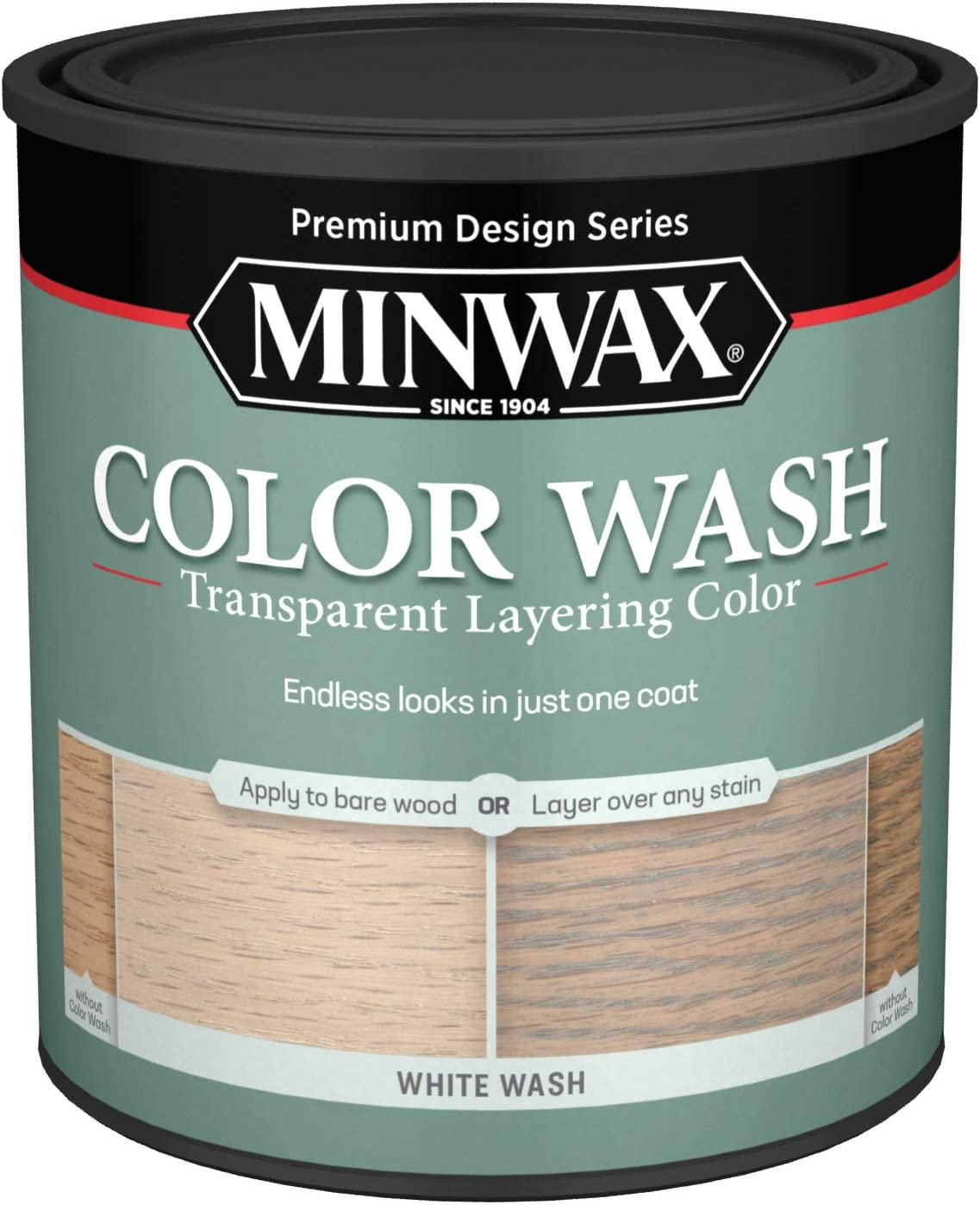 Minwax 618604444 Color Wash Transparent Layering Color White Wash 1 Quart Household Wood Stains Amazon Com
