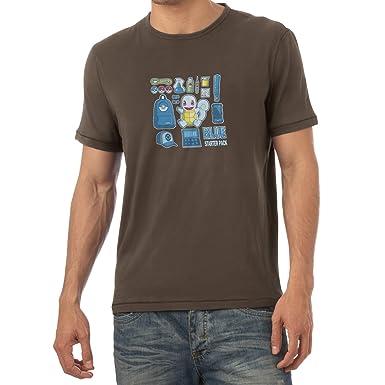 Texlab Blue Poke Pack - Herren T-Shirt, Größe S, Braun