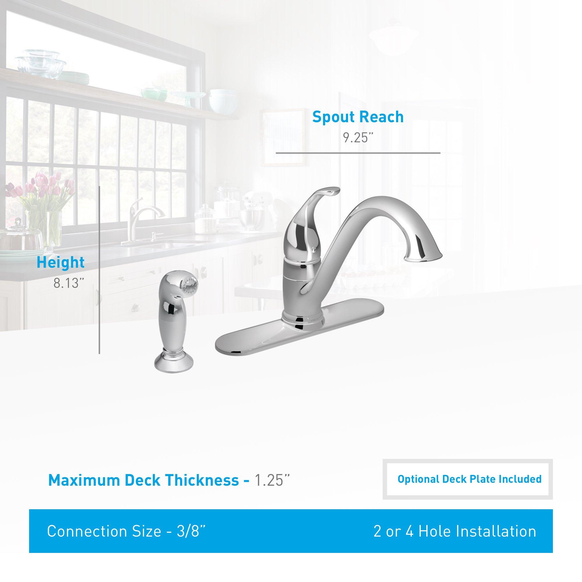 Moen 7840 Camerist One-Handle Low Arc Kitchen Faucet, Chrome