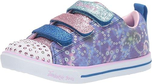 Skechers Kids' Sparkle Lite Rainbow Brights Sneaker