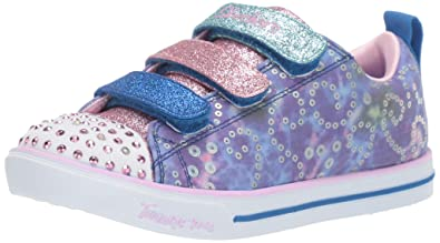 Skechers Kids' Sparkle Lite Rainbow Brights Sneaker