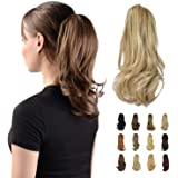 """Sofeiyan 13"""" Ponytail Extension Long Curly Ponytail Clip in Claw Hair Extension Natural Looking Synthetic Hairpiece for…"""