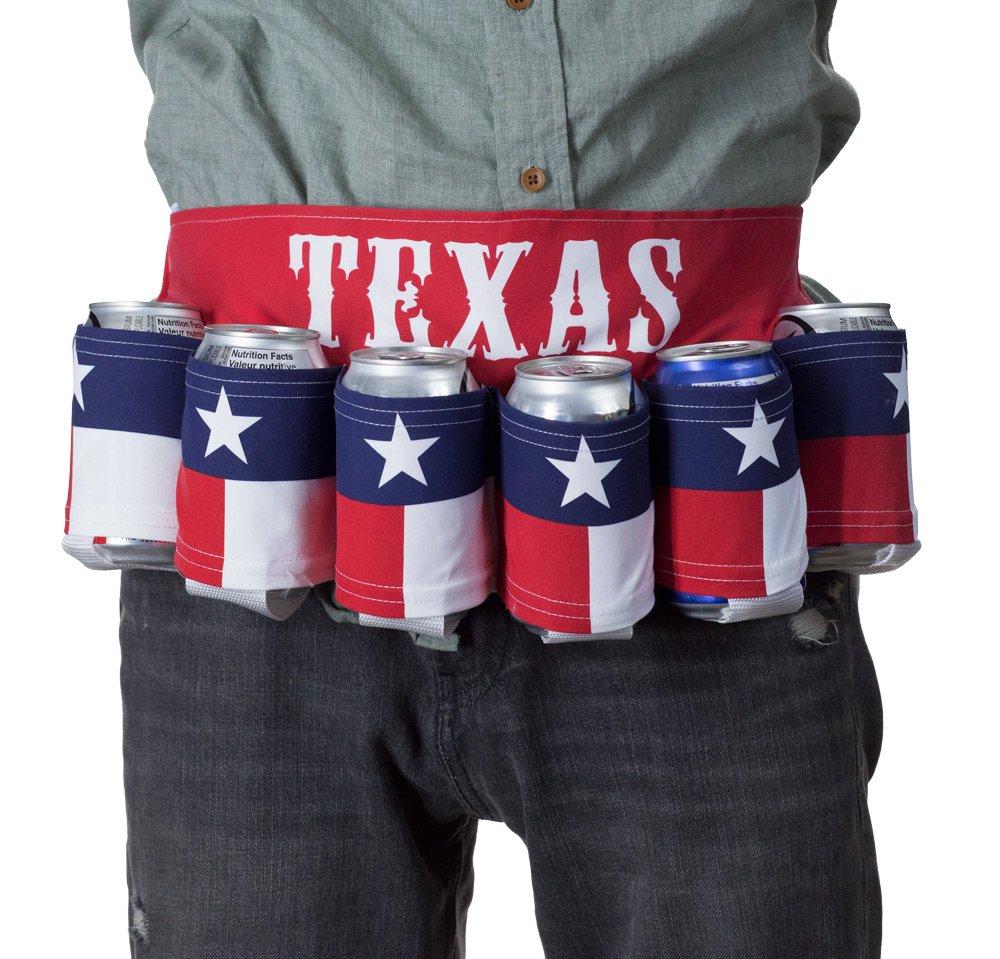 Novelty Beverage Holder Beer Belt (Texas)