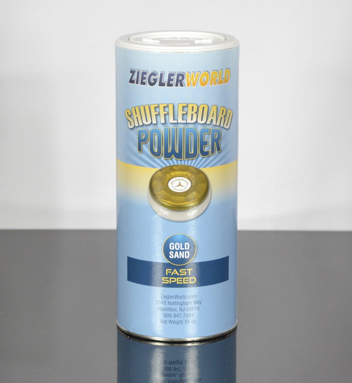 Zieglerworld 1 can Gold Sand Table Shuffleboard Powder Wax - Fast Speed by Zieglerworld
