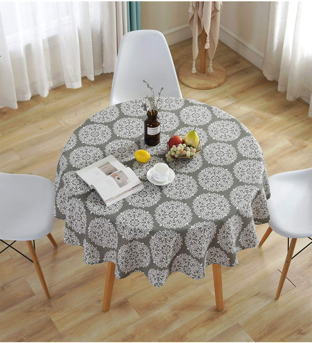 Meiosuns Tablecloth Table Cover Cloth White and blue plaid tablecloths Mediterranean style Fresh and artistic cotton and tassel tablecloths Rectangular coffee table tablecloths 60 * 60cm