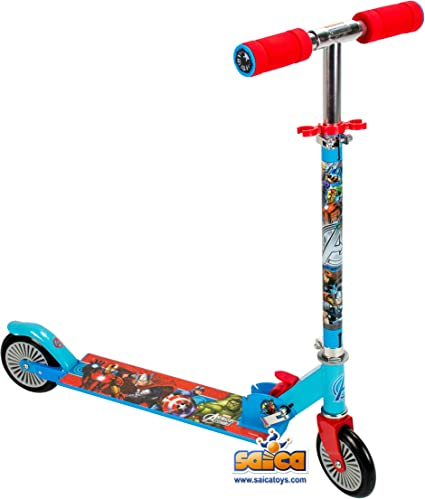 Amazon.com: Ultimate Spiderman Scooter con dos ruedas para ...