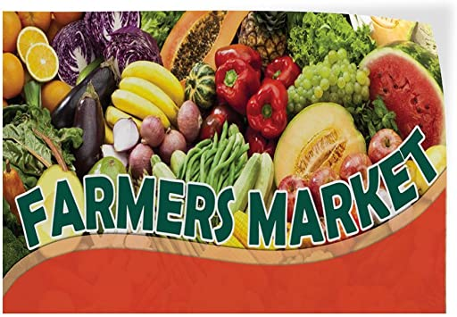 Decal Sticker Multiple Sizes Farmers Market #1 Style E Business Farmers Market Outdoor Store Sign Red 69inx46in One Sticker