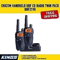 Oricom 2 Watt Handheld UHF CB Radio Twin Pack UHF2190 80 Channels