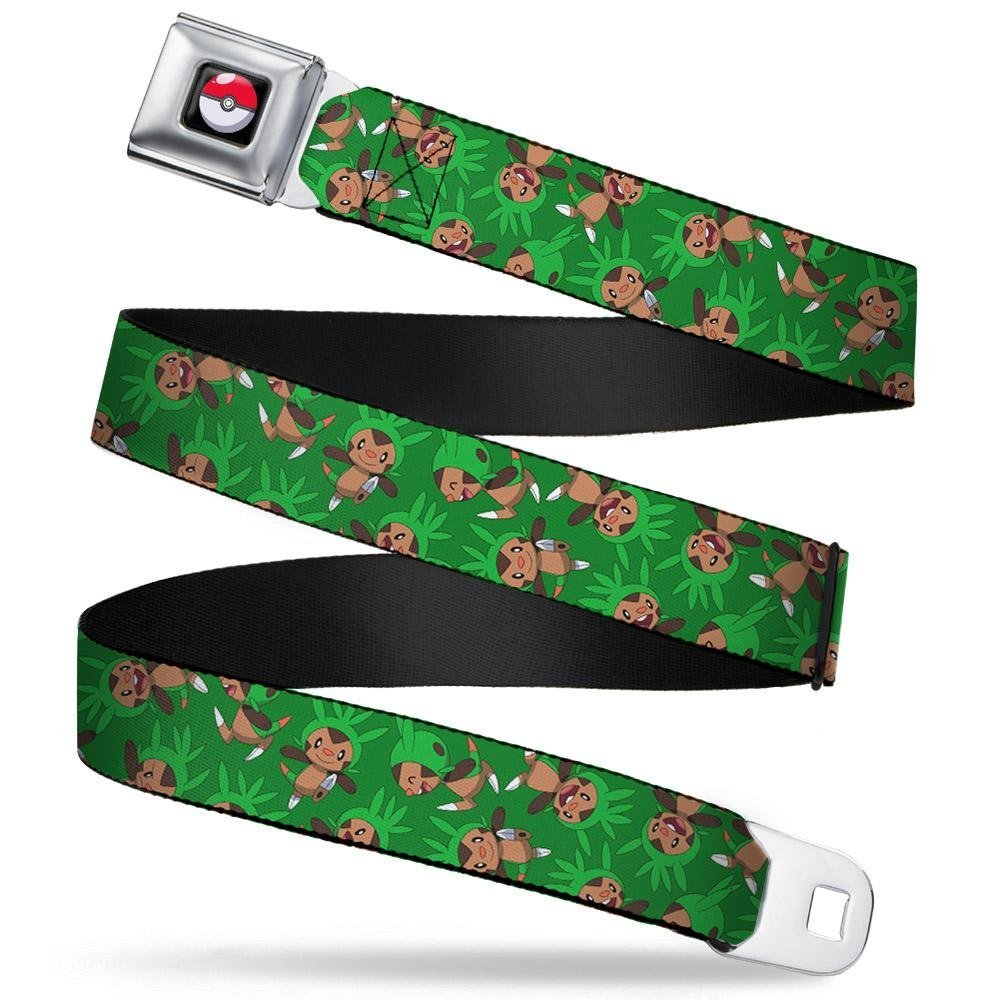 Buckle-Down Seatbelt Belt 20-36 Inches in Length Chespin Poses Scattered Green 1.0 Wide