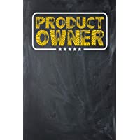 Product Owner: Chalkboard, Yellow Design, Blank College Ruled Line Paper Journal Notebook for Project Managers and Their…