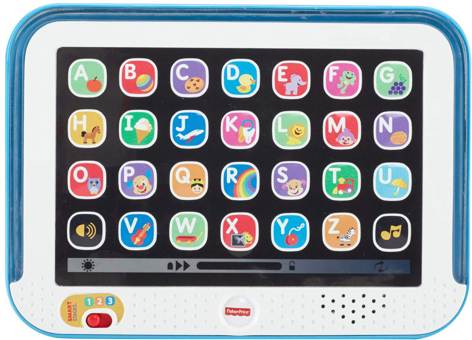Fisher-Price Laugh & Learn Smart Stages Tablet, Blue by Fisher-Price (Image #1)