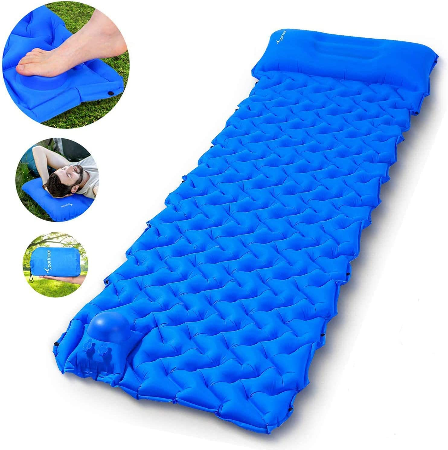 Sportneer Camping Sleeping Pad Built-in Pump