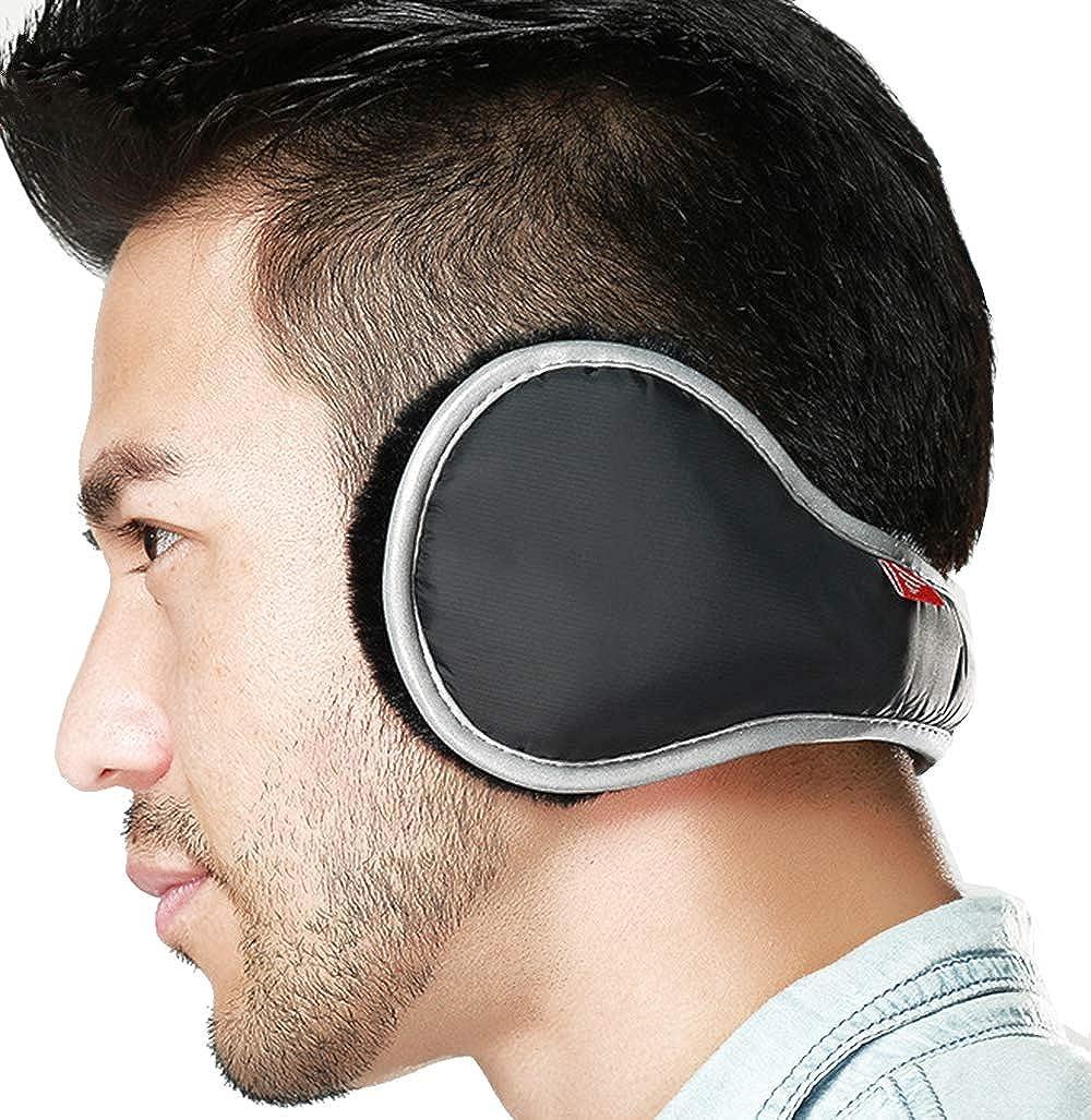 Mens Ear Warmers Unisex Foldable Winter Furry Earmuff Waterproof