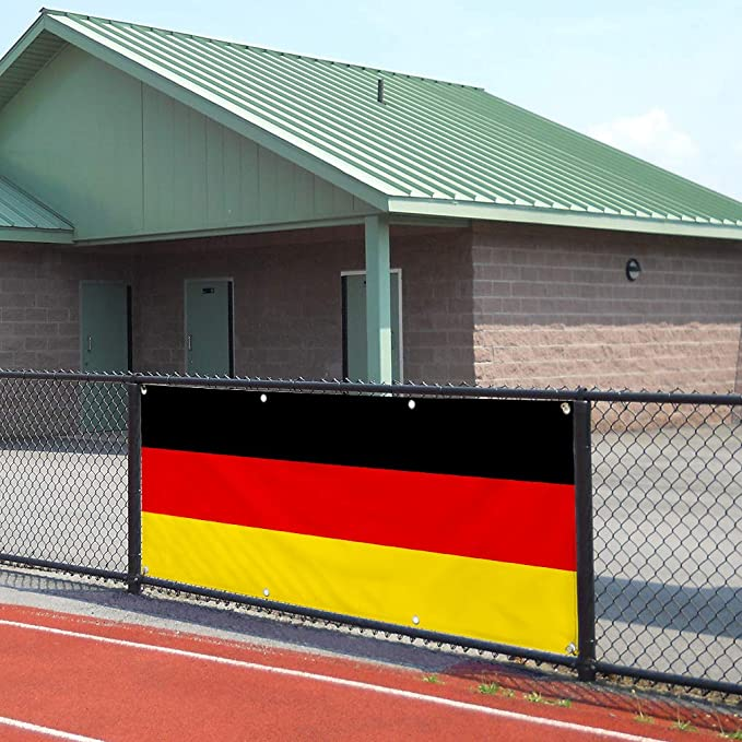 Vinyl Banner Sign Germany Flag Black Red Yellow Countries Marketing Advertising Black Set of 2 28inx70in 4 Grommets Multiple Sizes Available