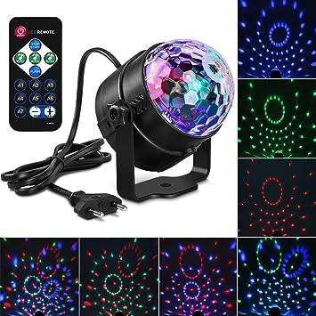 Discokugel,Furado Partybeleuchtung,Discokugel Partylicht,LED ...