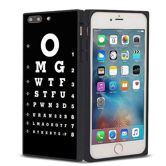 Amazon com: OMG iPhone 8 Plus case Protective Rectangle