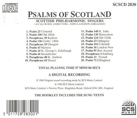 Scottish Philharmonic Singers, Ian Mccrorie - Psalms of
