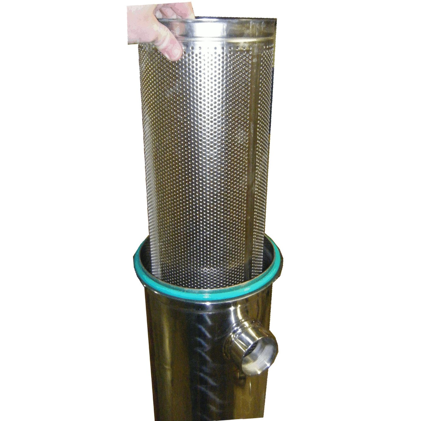 PRM Bag Filter HOUSING; #2 Size; 304 SS; 2 NPT in//Out; VITON O-Ring; 150 PSI MAX; Flat Plate TOP