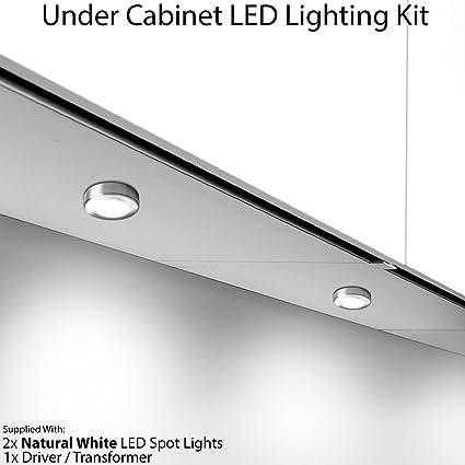 2 x 2.6 W LED armadio da cucina rotondo illuminazione spot & driver ...