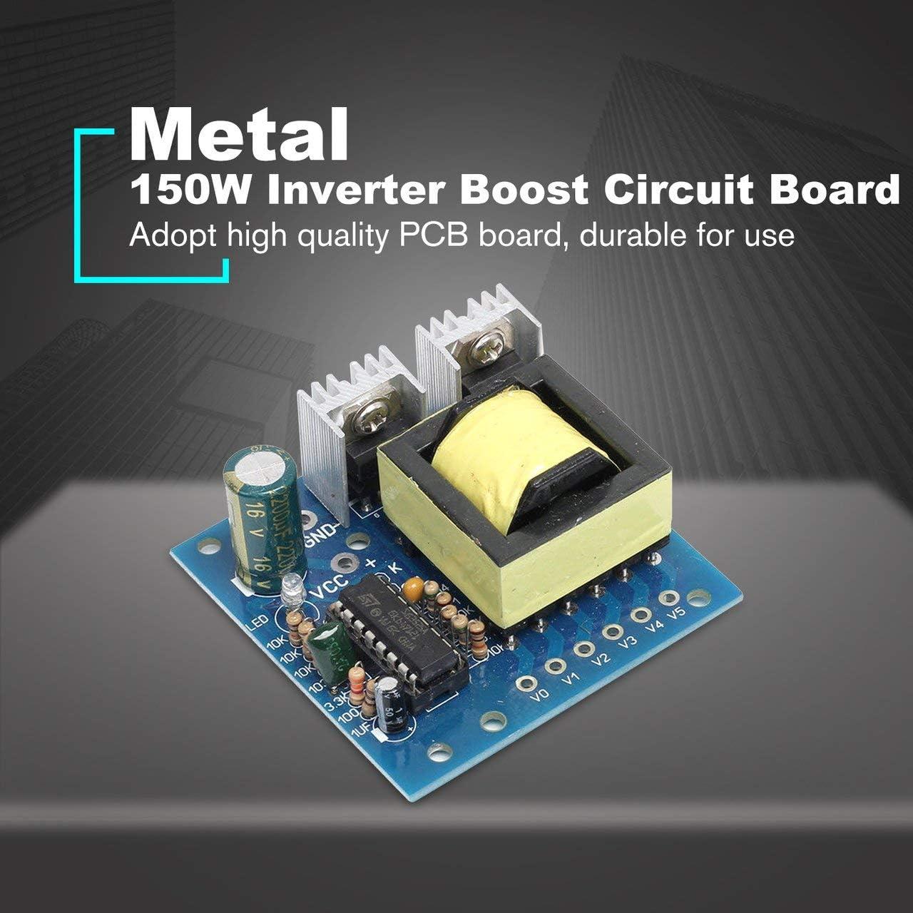 FRjasnyfall 150W Booster Board Inverter Module Transformateur /él/évateur de Tension DC 12V /à AC 220V Convertisseur dalimentation Chargeur Boost Board Multicolore