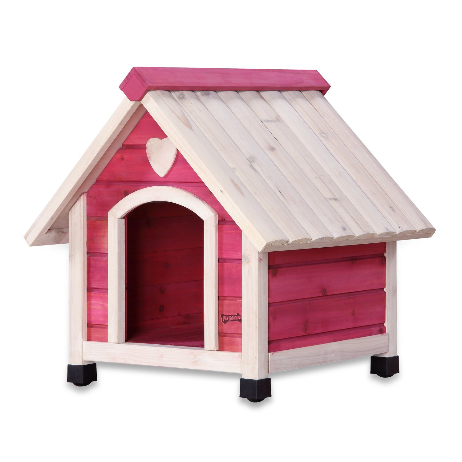 Pet Supplies : Pet Squeak Princess Pad Dog House, X-Small, Pink ...