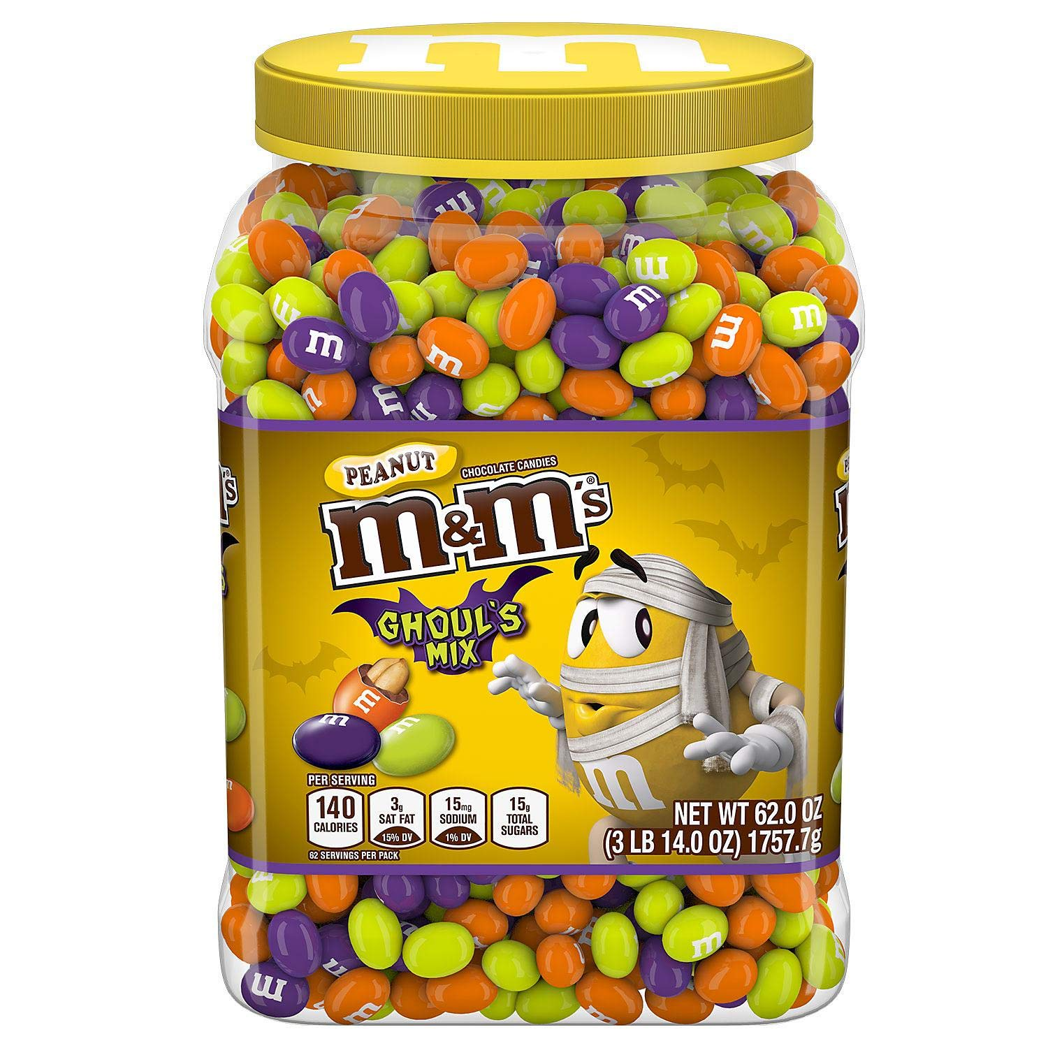 M&M'S Ghoul's Mix Peanut Chocolate Halloween Candy by M&M'S