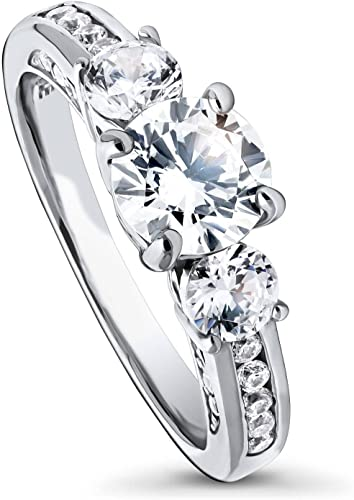 Clear Cubic Zirconia Double Heart Ends Ring Rhodium Plated Sterling Silver