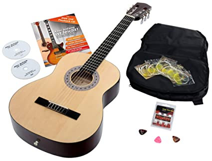 Calida Benita CB34NSET - Set de guitarra 3/4 con accesorios, color ...