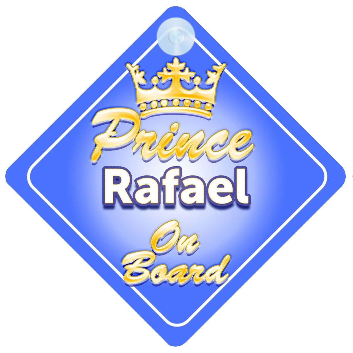 Crown Prince Rafael on Board Personnalisé pour bébé/enfant garçons voiture Panneau mybabyonboard UK