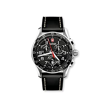 Victorinox Swiss Army Men S 241444 Chron Classic Black Chronograph Dial Watch