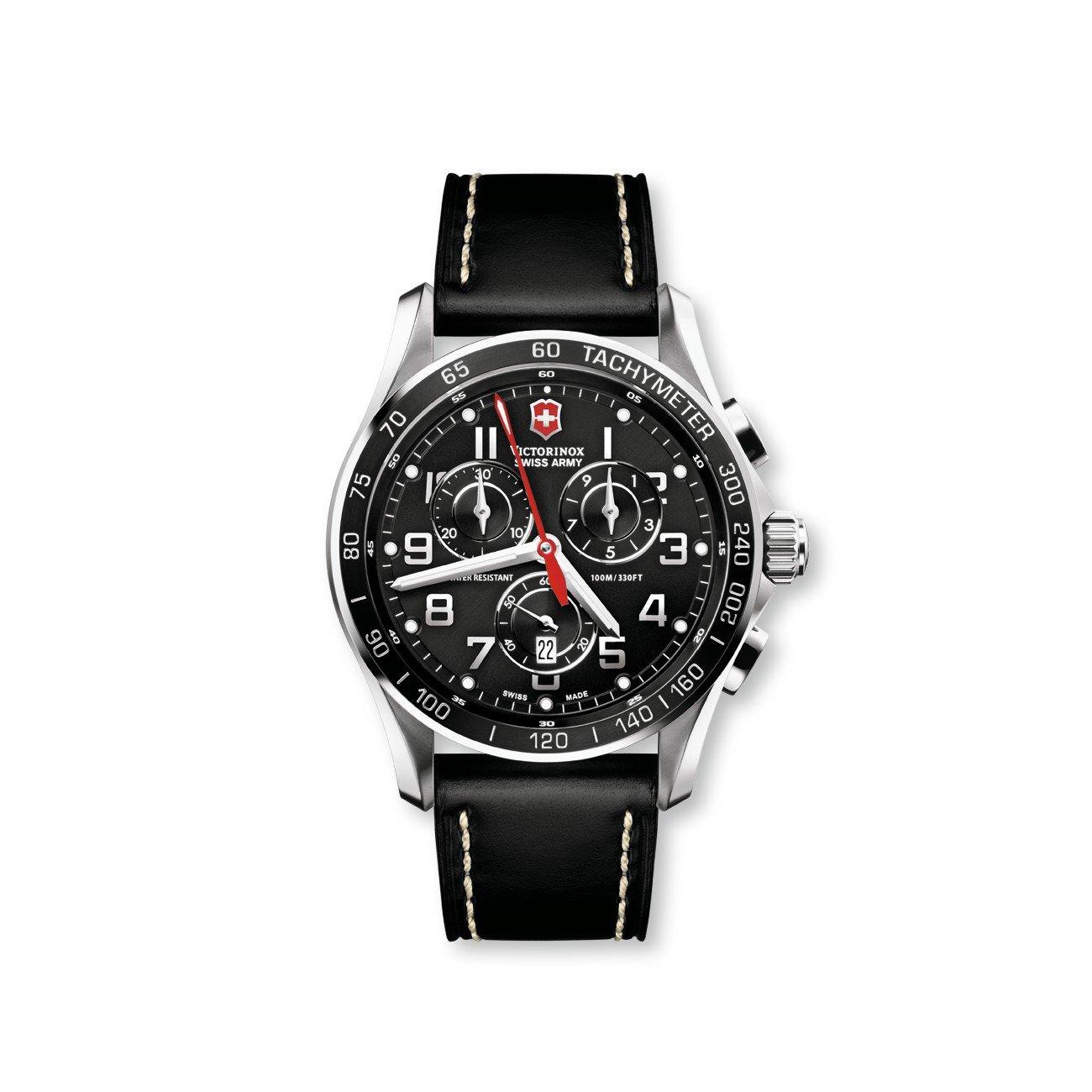 Victorinox Swiss Army Men's 241444 Chron Classic Black Chronograph Dial Watch