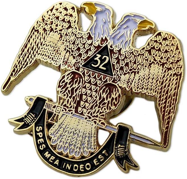 Scottish Rite 32nd Degree Masonic Lapel Pin Badge