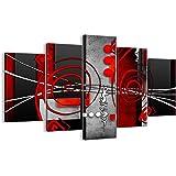 Quadro su tela - cinque 5 tele - larghezza: 150cm, altezza: 100cm - numero dell'immagine 0599 - pronto da appendere - completamente incorniciato - elementi multipli - EA150x100-0599