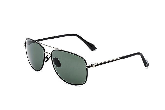 CHB Hombres Gafas de Sol Aviador Ligeras Polarizadas Con Estuche de Gafas Marco Metal Protección UV 400 Para Hacer Ejercicio