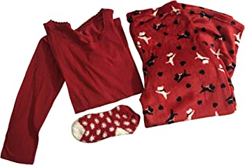 bef786f1c0 Laura Scott 3 pc. Plush PJ Set Dogs Scotties (Medium)