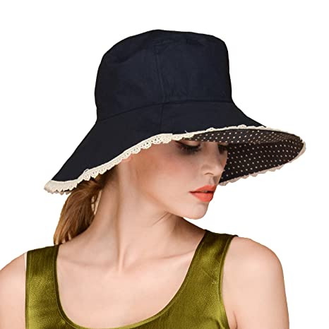 4d1c29def8b Erigaray UPF50+ Sun Shade Hats For Womens Summer Outdoor Wide Brim Beach Hat  Foldable