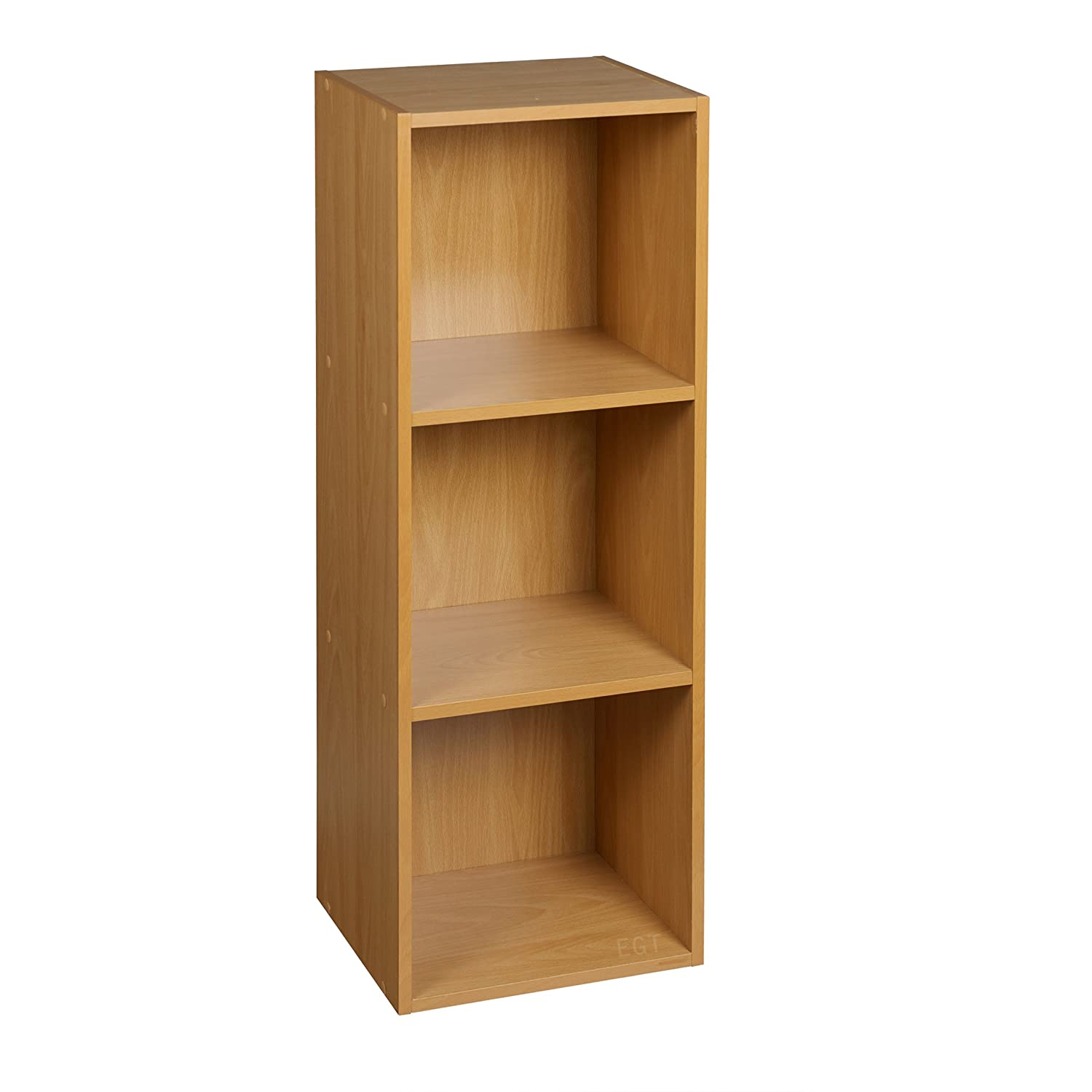 URBN LIVING 1, 2, 3, 4 Tier Wooden Shelving Bookcase Storage Wood Shelf Unit (3 Tier, Beech) URBN LIVING ®