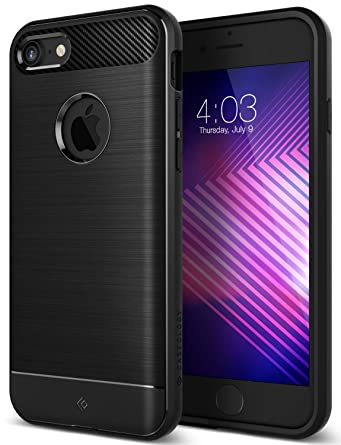 brand new 90404 70c9c iPhone 7 Case, Caseology [Vault II Series] Slim Fit Flex Armor Shock  Protection [Matte Black] [Drop Tested] for iPhone 7 (2016)