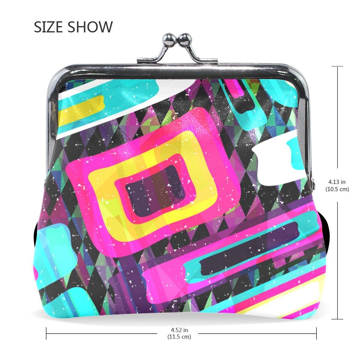 Coin Purse Graffiti Colorful Wallet Buckle Clutch Handbag For Women Girls Gift