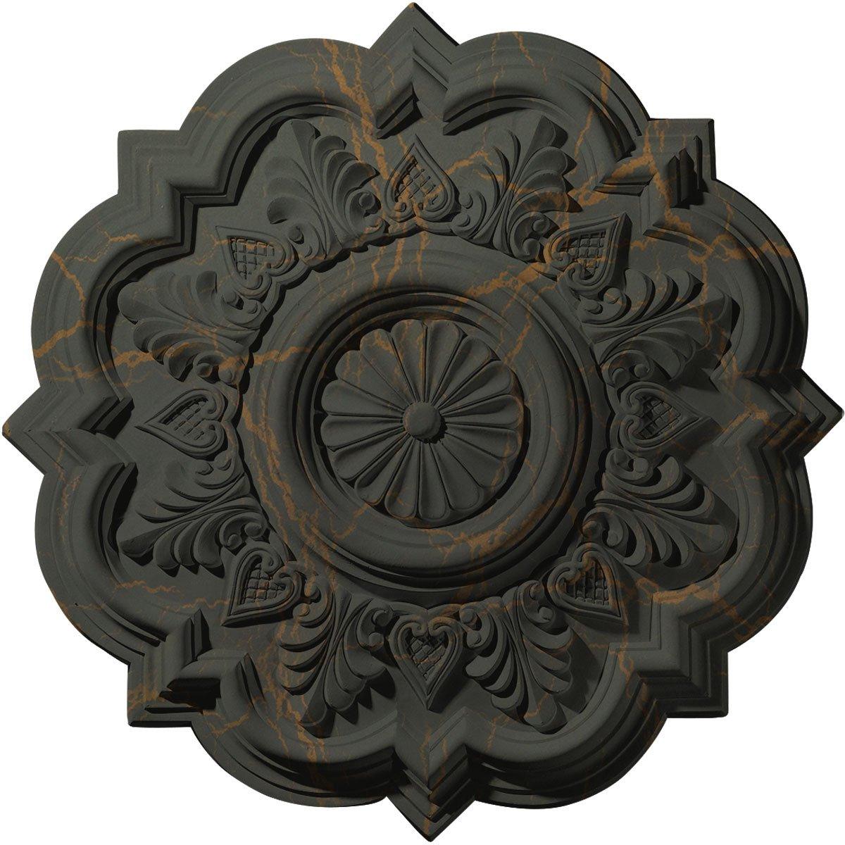 Ekena Millwork CM20DRWHC Deria Ceiling Medallion, Witch Hazel Crackle